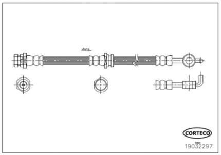 Шланг тормозной CORTECO 19032297