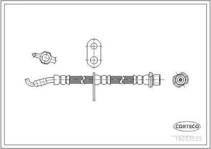 Шланг тормозной системы CORTECO 19033533