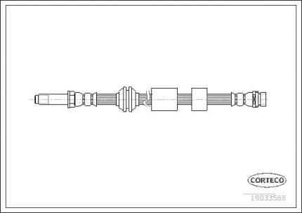 Шланг тормозной CORTECO 19033568