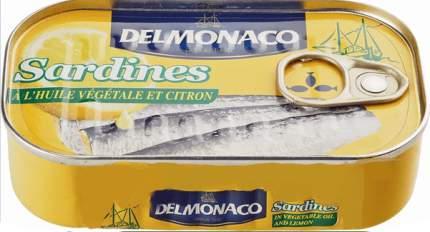 Сардины Delmonaco в растительном масле с лимоном 125 г