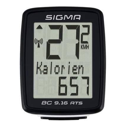 Велокомпьютер Sigma BC 9.16 ATS черный
