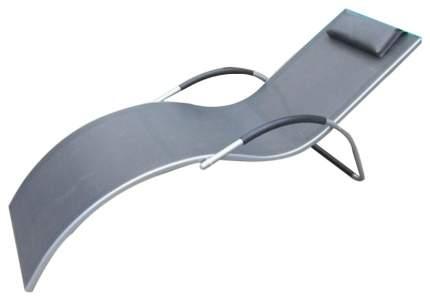 Шезлонг Afina Грация MC-3039GA Silver-Black серый