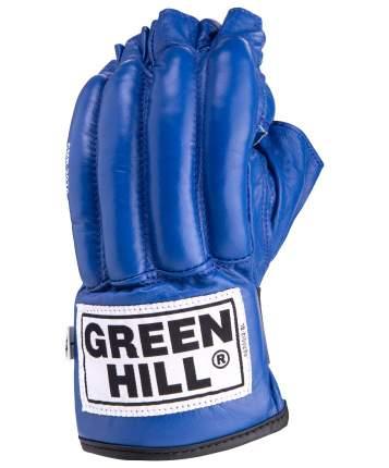 Перчатки снарядные Green Hill ROYAL CMR-2076, шингарды, кожа, синие (L)