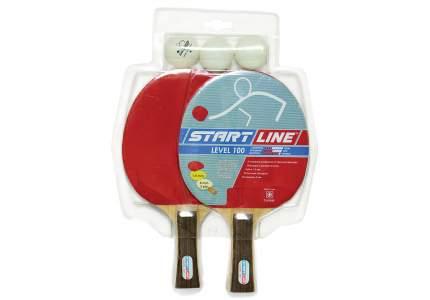 Набор для настольного тенниса Start Line Level 100, 2 ракетки и 3 мяча