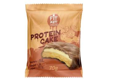 Fit Kit Protein Cake 70 г (вкус: арахисовая паста) Протеиновое печенье