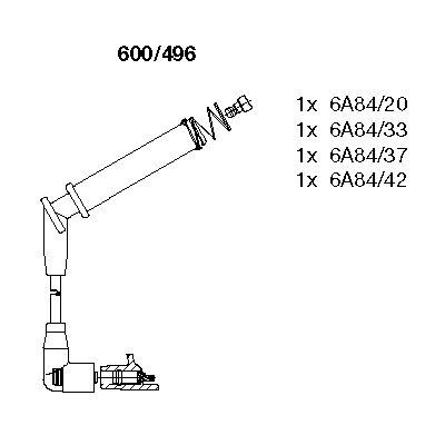 Комплект проводов зажигания BREMI 600/496