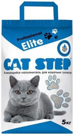 Комкующийся наполнитель для кошек Cat Step Professional Elite бентонитовый, 5кг