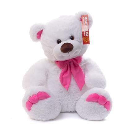 Мягкая игрушка Нижегородская игрушка Мишка средний белый с розовыми пальчиками 55 см