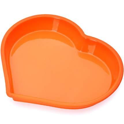 Форма для выпечки Mayer&Boch 1,2 л, силикон, оранжевая, 28068-1