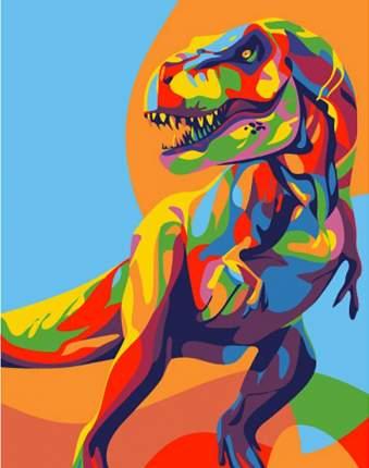 Картина по номерам Артвентура Радужный динозавр, 16,5x13 см