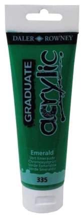 Акриловая краска Daler Rowney Graduate изумрудный зеленый 120 мл
