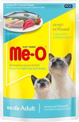 Влажный корм для кошек Me-O Adult, сардины с курицей и рисом, 80г