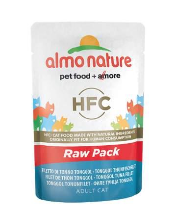 Влажный корм для кошек Almo Nature HFC Raw Pack, филе тонгольского тунца, 55г