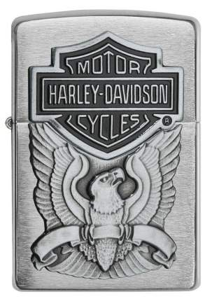 Бензиновая зажигалка Zippo Harley-Davidson Eagle Logo Emblem Brushed Chrome