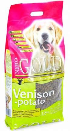 Сухой корм для собак NERO GOLD Adult, все породы, оленина и картофель, 12кг