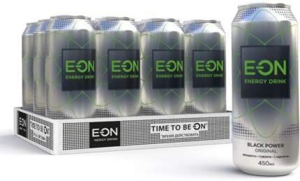 Энергетический напиток  E-ON Black Power 12 шт по 450 мл