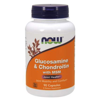 NOW Glucosamine & Chondroitin with MSM (90 капсул)