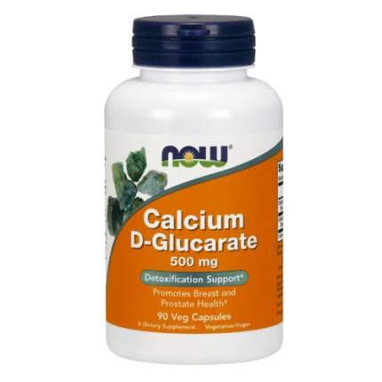 NOW Calcium D-Glucarate 500 мг (90 капсул) - препарат для детоксикации печени