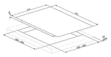 Встраиваемая варочная панель газовая Smeg PV175CN White
