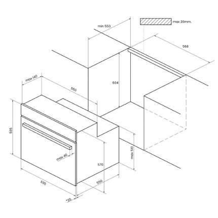 Встраиваемый газовый духовой шкаф KUPPERSBERG HGG 663 W White