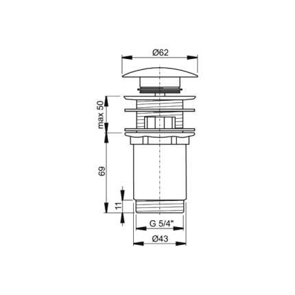 Слив для раковины AlcaPlast A392 хром