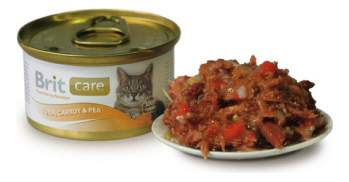 Консервы для кошек Brit Care, рыба, овощи, 80г