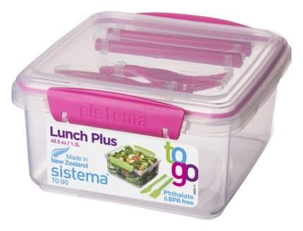Контейнер Sistema To-go 21652 Салатовый, розовый, голубой, фиолетовый, прозрачный