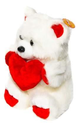 Медведь с сердцем белый 42 см СмолТойс 3329АV/БЕЛ