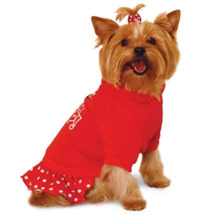 Толстовка для собак Triol Minnie размер XS женский, красный, длина спины 20 см