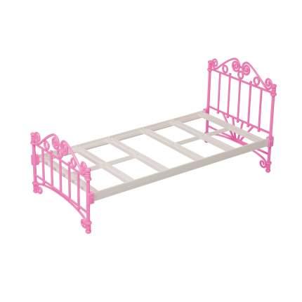 Кроватка розовая с постельным бельем для домиков Огонек