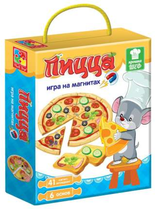 Игра магнитная Vladi Toys Крошка Шеф Пицца