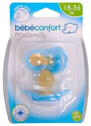 Комплект из двух латексных пустышек Bebe Confort Safe Dummlles с кольцом 18 - 36 Т2
