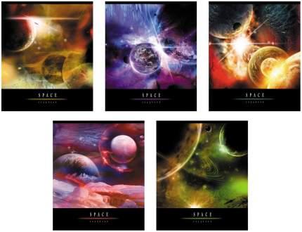 Тетрадь ученическая Полиграфика 96л Клетка. Вселенная