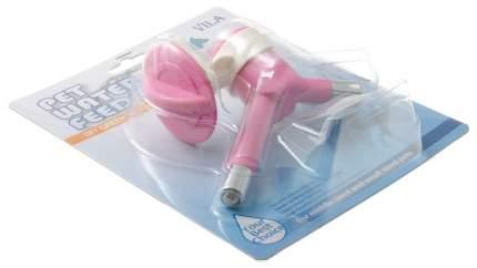 Поилка ниппельная с шариком для животных V.I.Pet, розовый, под ПЭТ бутылку