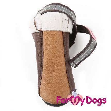 Сапоги для собак FOR MY DOGS, зимние, коричневые, FMD628-2018 Br 2