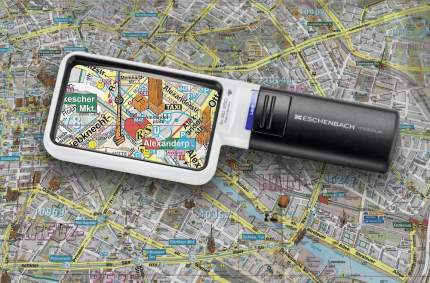 Лупа Eschenbach mobilux LED ручная с подсветкой 90 х 54 мм 3.0х