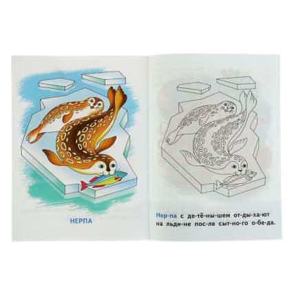 Раскрашиваем и Читаем по Слогам Морские Животные.