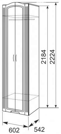Платяной шкаф Ижмебель IZH_T0015190 60х54,2х222, белый