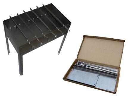 Коптильня-мангал кедр ПЛЮС, Эконом, 40*25*40 см, 6 шампуров
