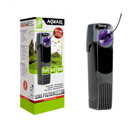 Фильтр для аквариума внутренний Aquael UNIFILTER 500 UV Power, 500 л/ч, 6,5 Вт