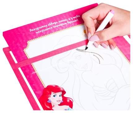 Многоразовая папка с карточками и маркером «Пиши-стирай», Принцессы Disney