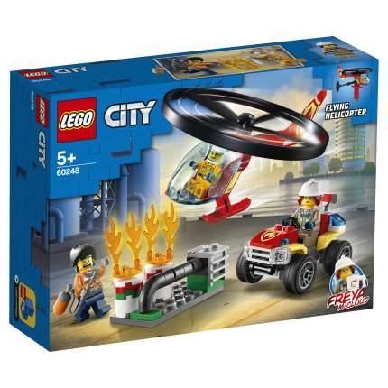 Конструктор LEGO City Fire 60248 Пожарный спасательный вертолёт