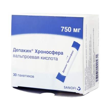 Депакин Хроносфера гранулы 750 мг 30 шт.