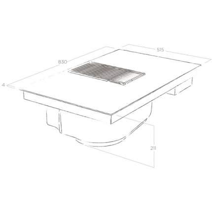 Встраиваемая варочная панель индукционная Elica BL/A/83 Black