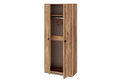 Платяной шкаф Hoff Пилигрим 80322011 89,8х211,2х43,4, дуб каньон светлый/фон серый