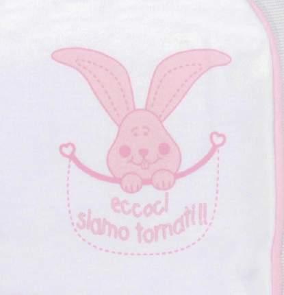 Ползунки детские Осьминожка короткие (розовый) цв. белый; розовый р.68