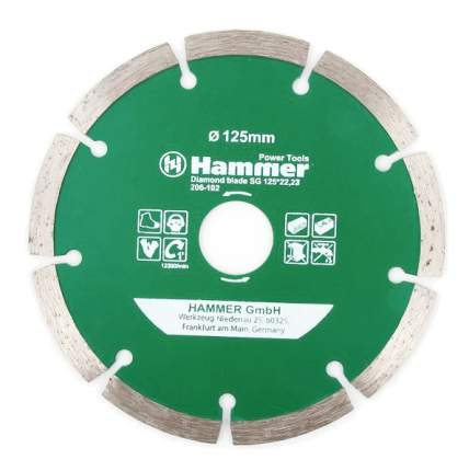 Диск отрезной алмазный универсальный Hammer 30686