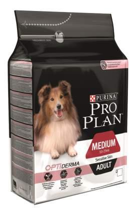 Сухой корм для собак PRO PLAN OptiDerma Medium Adult, для средних пород, лосось, 7кг