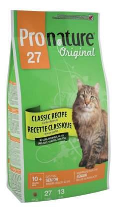 Сухой корм для кошек Pronature Original Senior, для пожилых, малоактивных, курица, 5,44кг