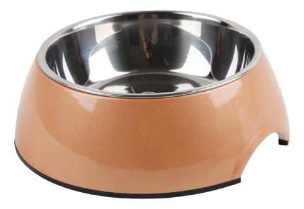 Одинарная миска для кошек Super Design, металл, розовый, 0.16 л